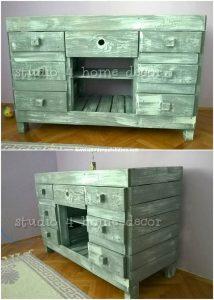Pallet TV Stand or Media Cabinet