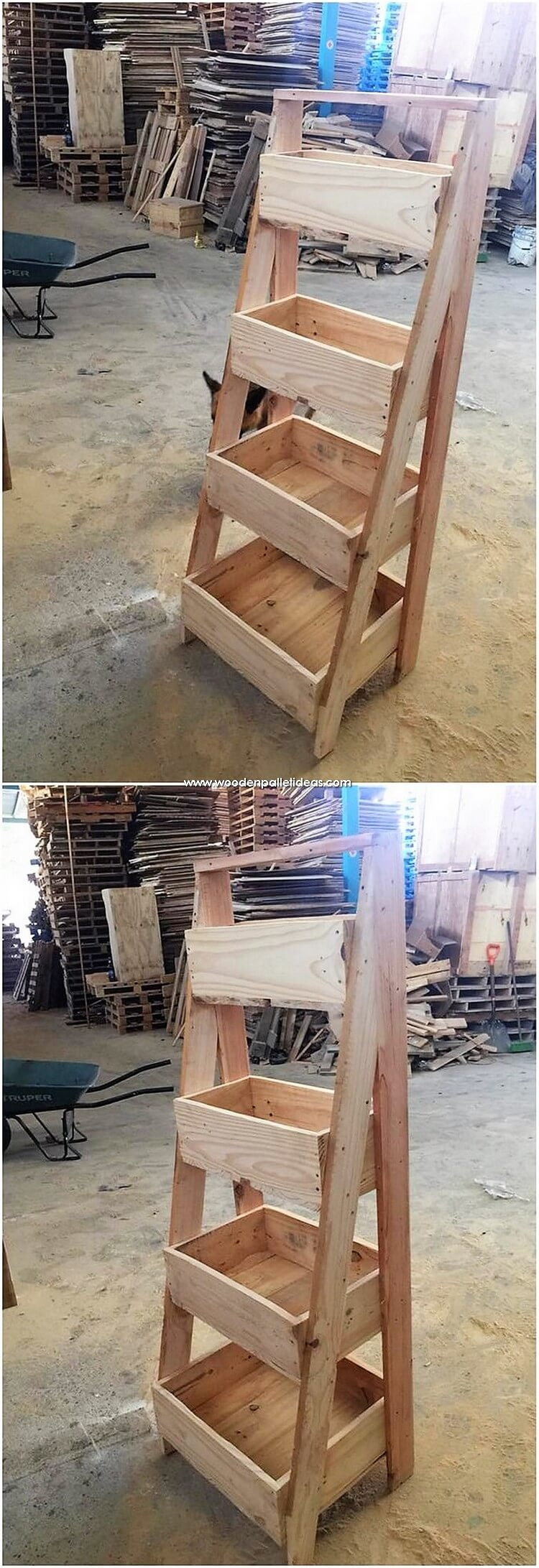 Pallet Vegetable and Fruits Rack