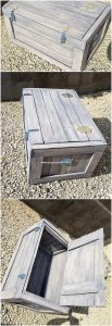 Wooden Pallet Storage Box