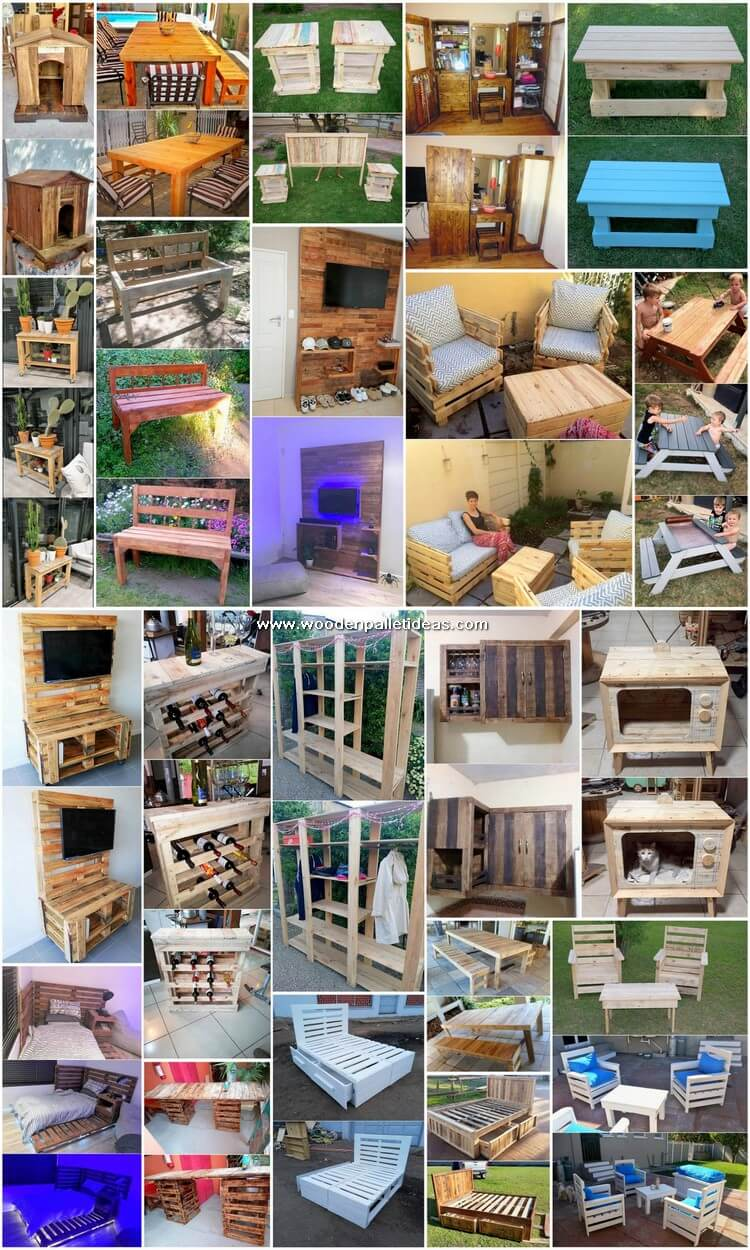 Fabulous Creations Made with Used Wood Pallets