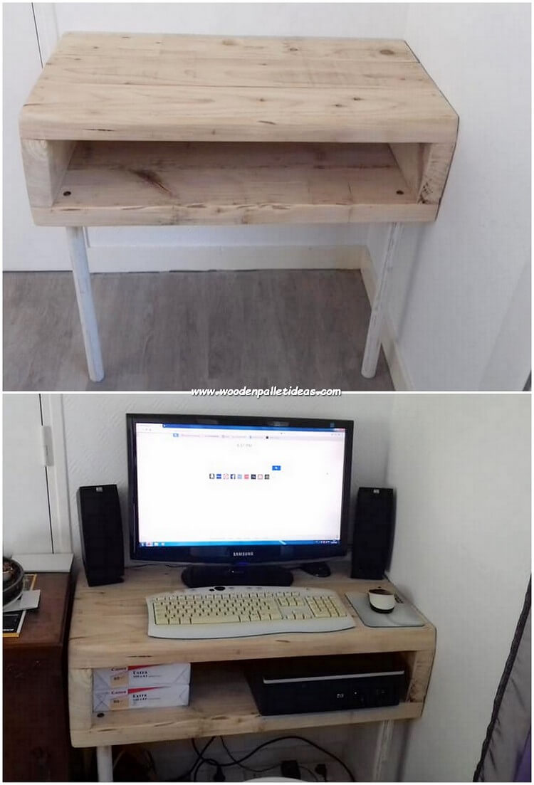 Pallet Computer table