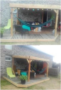 Pallet Garden Shed with Terrace