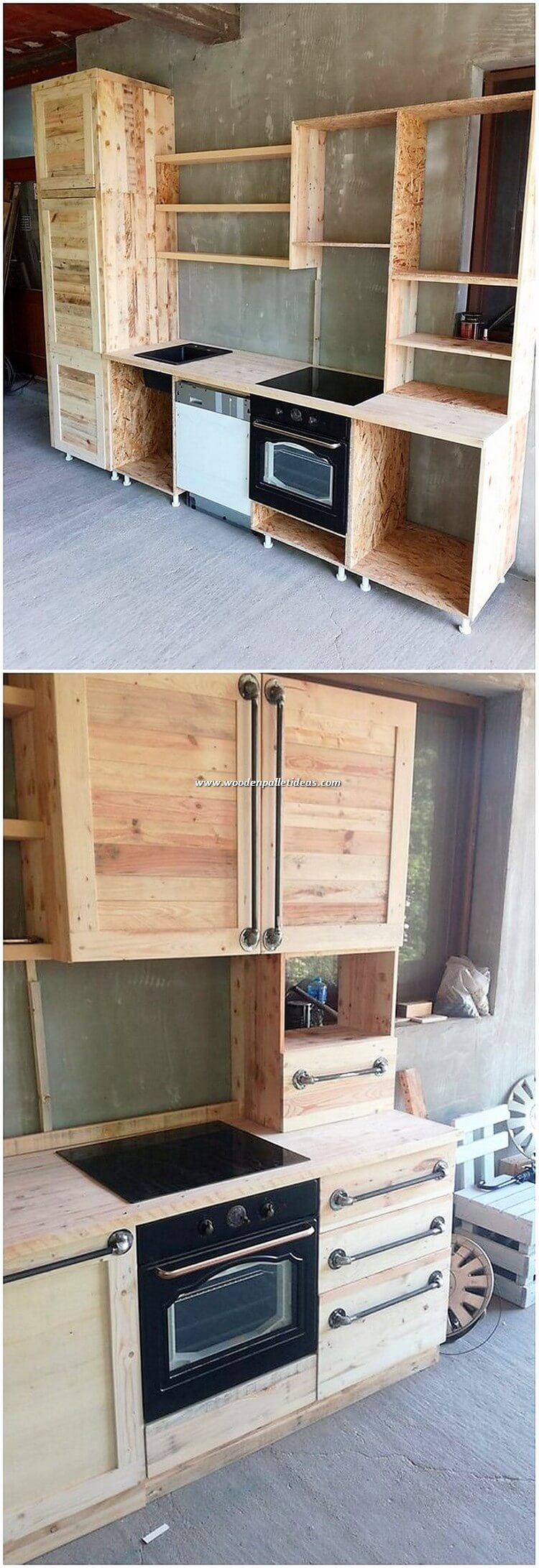 Pallet Kitchen Cabinets