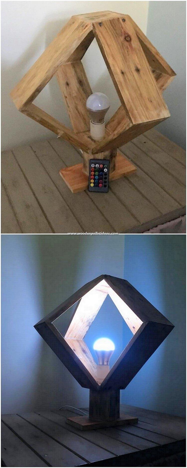 Pallet Lamp Holder