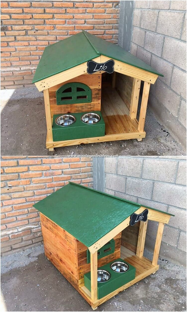 Pallet Pet House