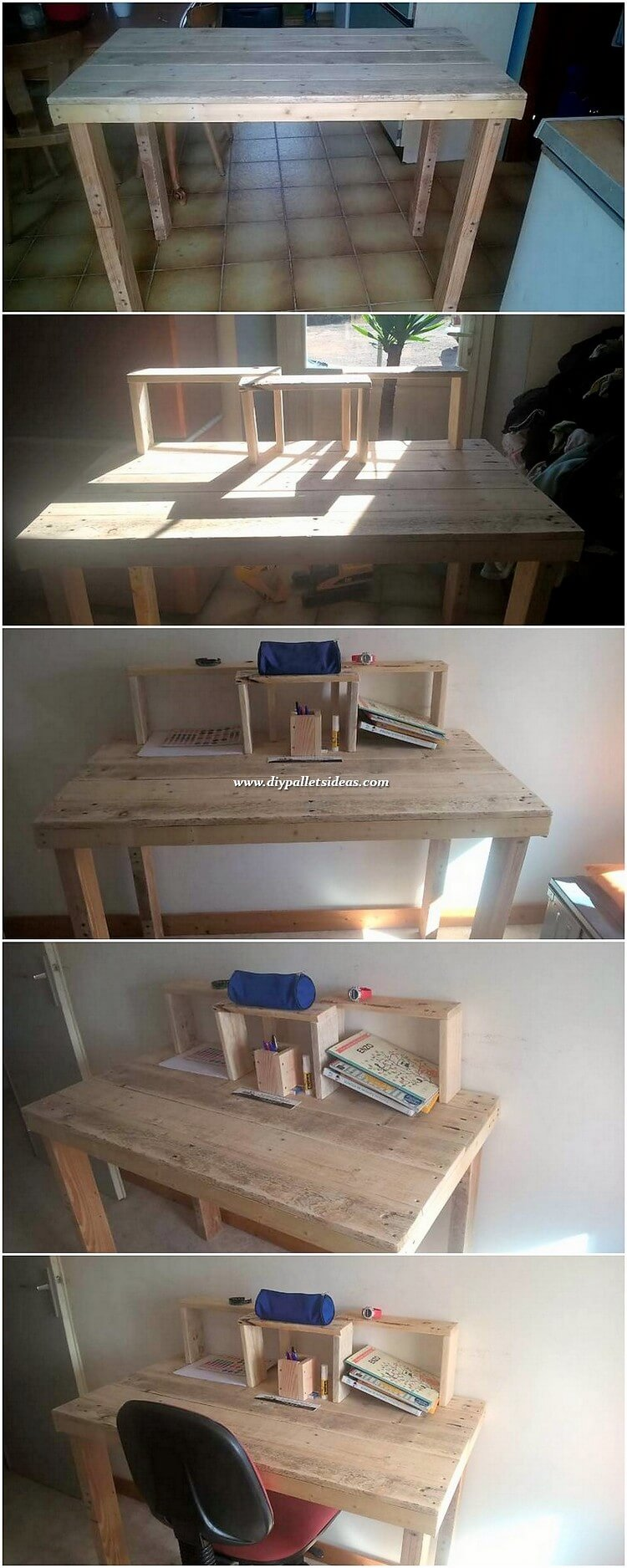 Pallet Study Desk Table