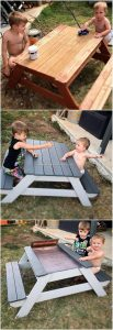 Pallet Table and Benches for Kids