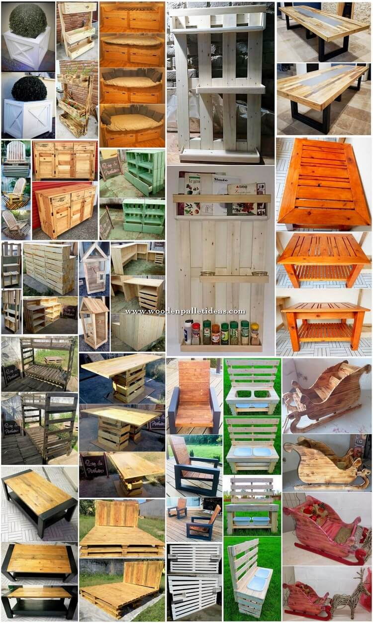 Mind Blowing DIY Projects for Wood Pallet Reusing