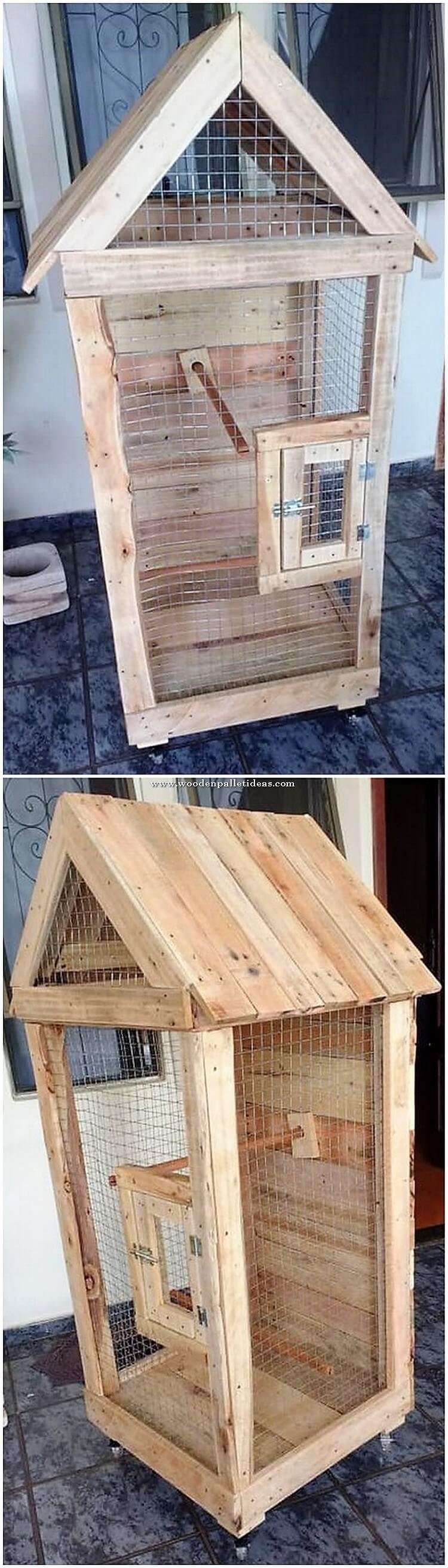 Pallet Bird Cage