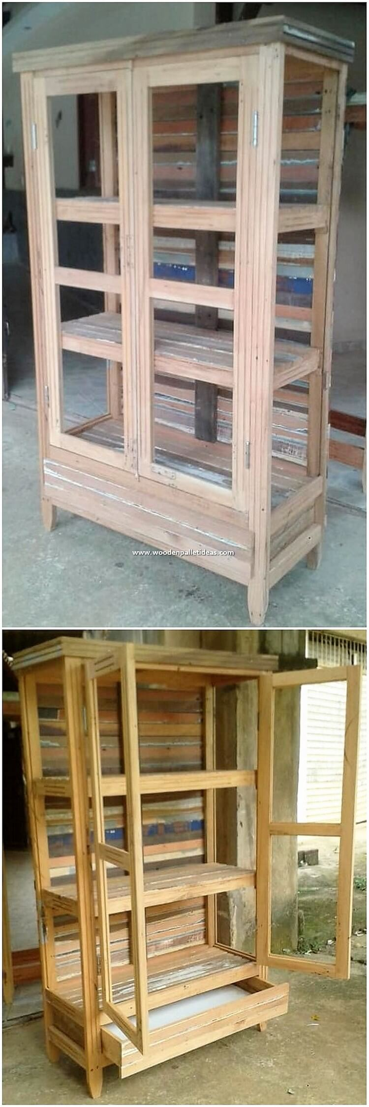 Wood Pallet Hutch or Cabinet
