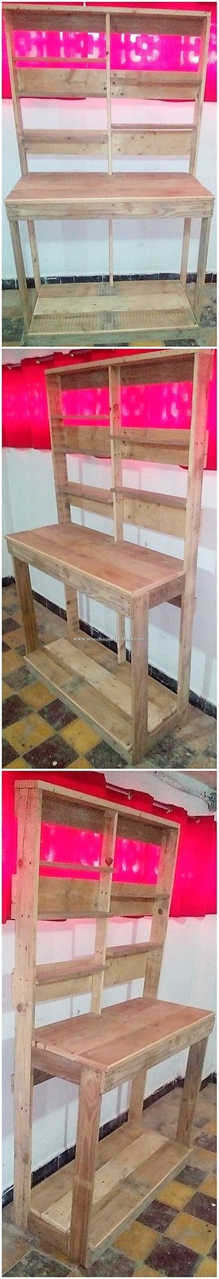 Wooden Pallet Shelving Unit