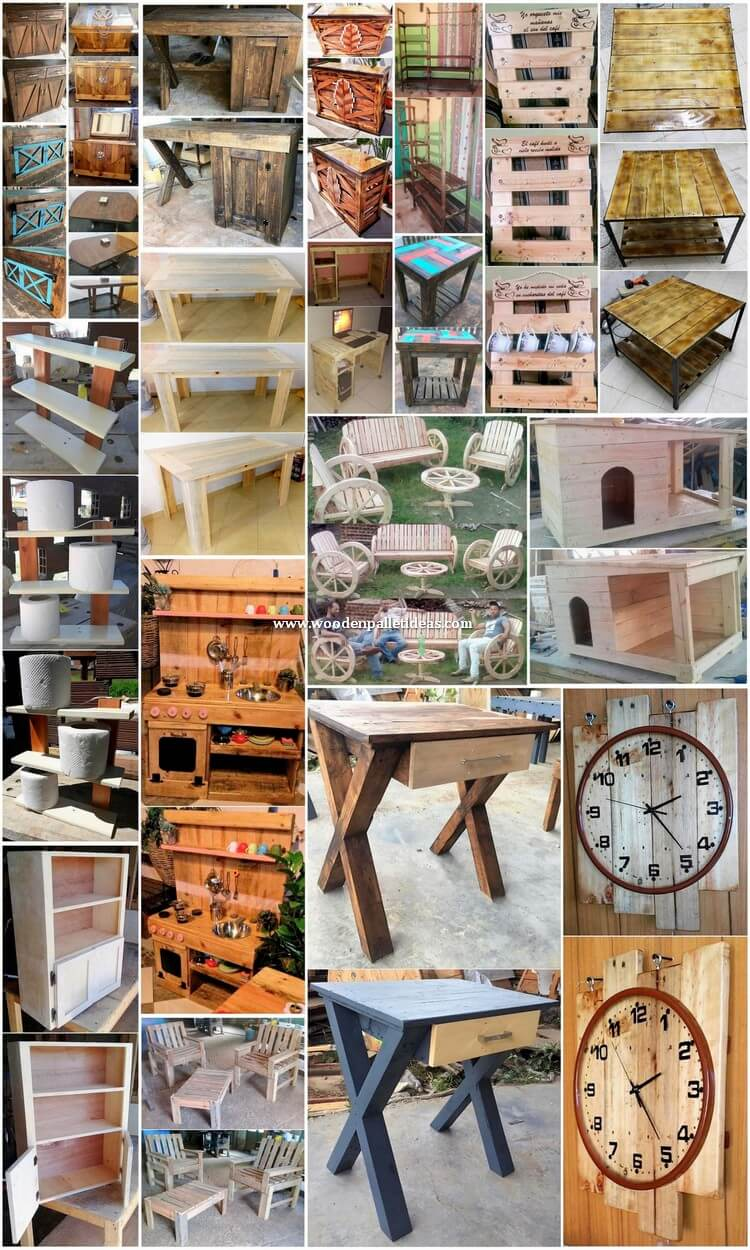 Brilliant Ideas for Wood Pallets Reusing