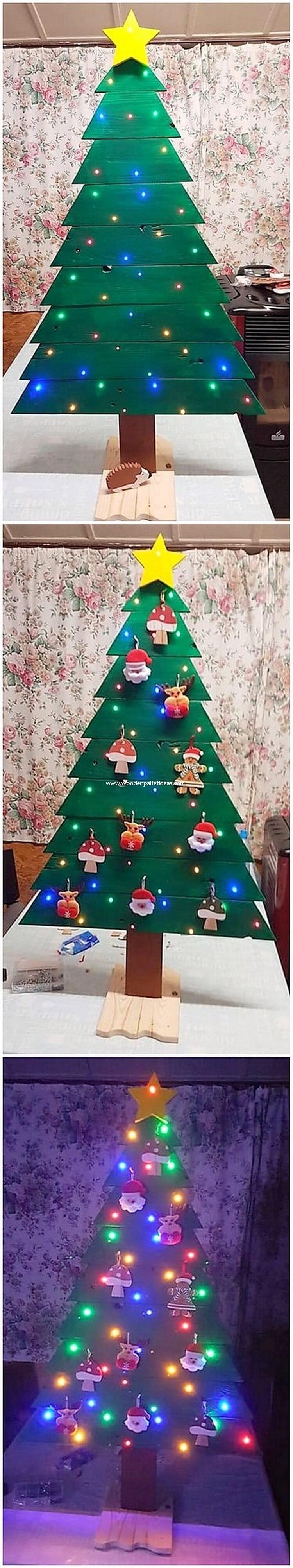 Green Pallet Christmas Tree