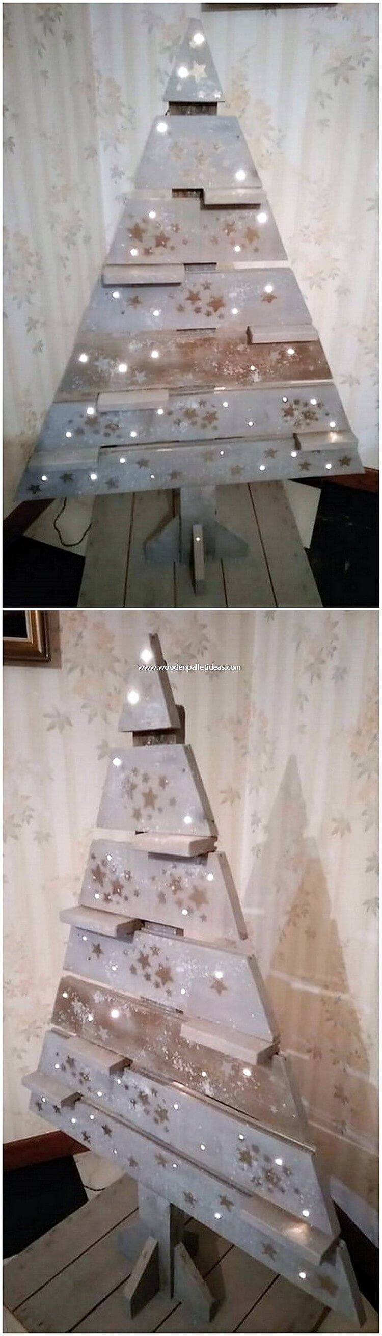 Old Pallet Christmas Tree