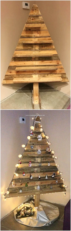 Pallet Christmas Tree for Decor