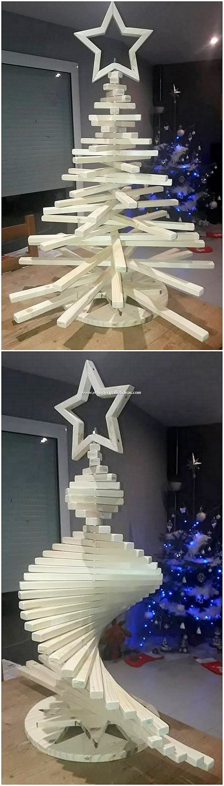 Pallet Christmas Tree with Star