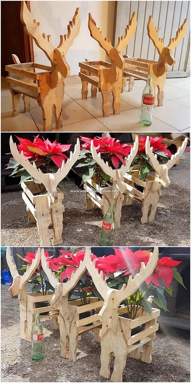 Pallet Deer Shape Planter