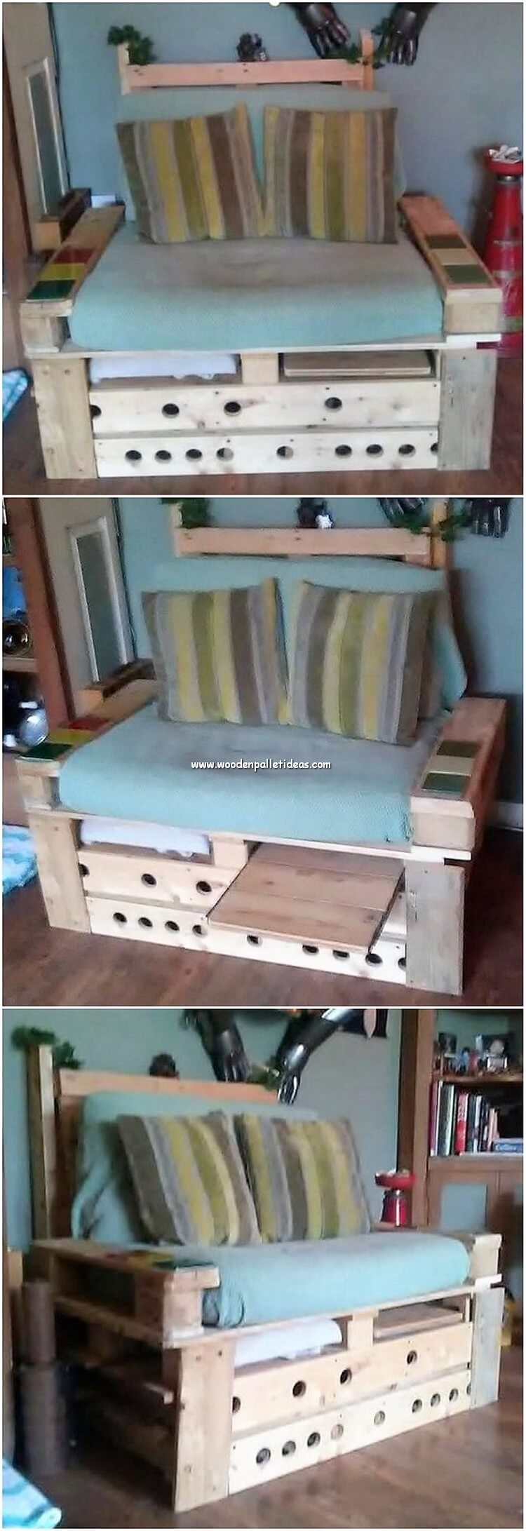 Pallet Seat with Table