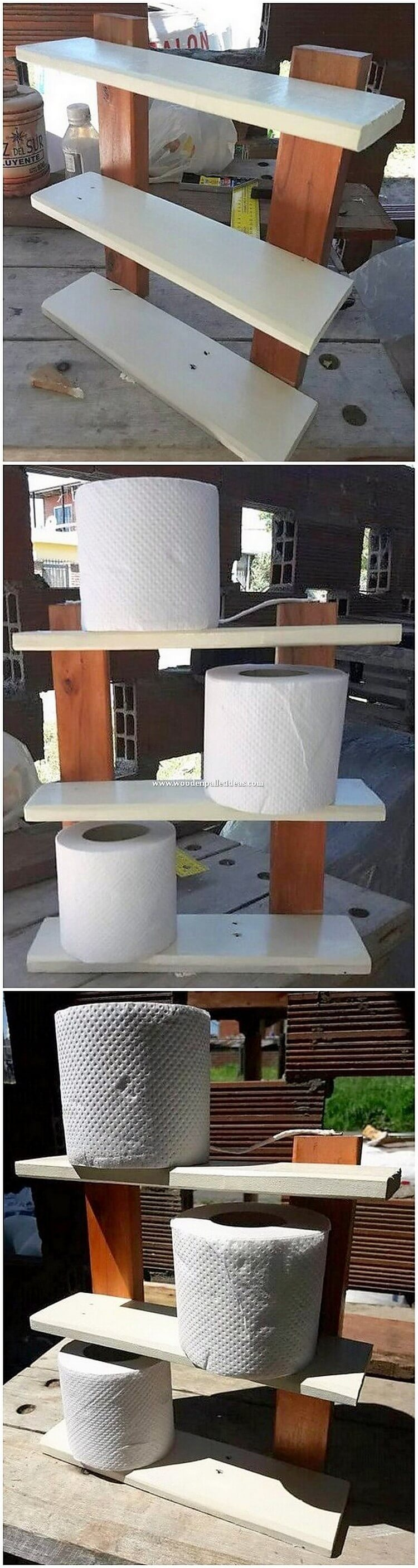 Pallet Toilet Paper Roll Stand