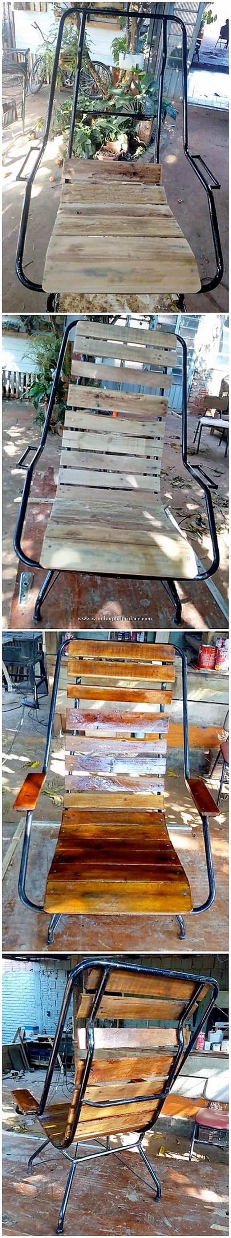 DIY Wood Pallet Chair