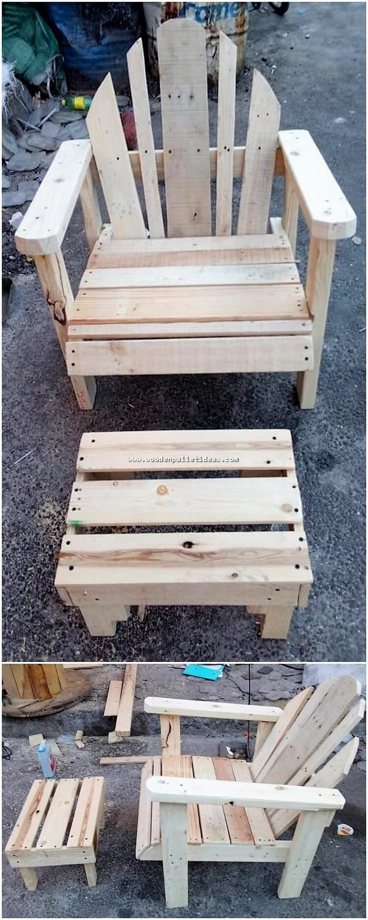 Pallet Chair and Table