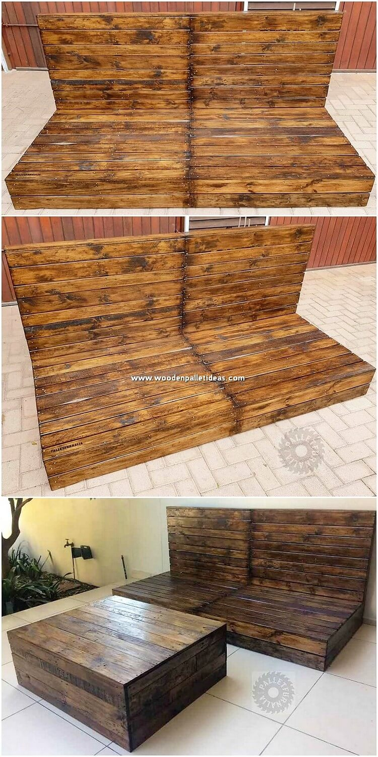 Pallet Daybed and Table