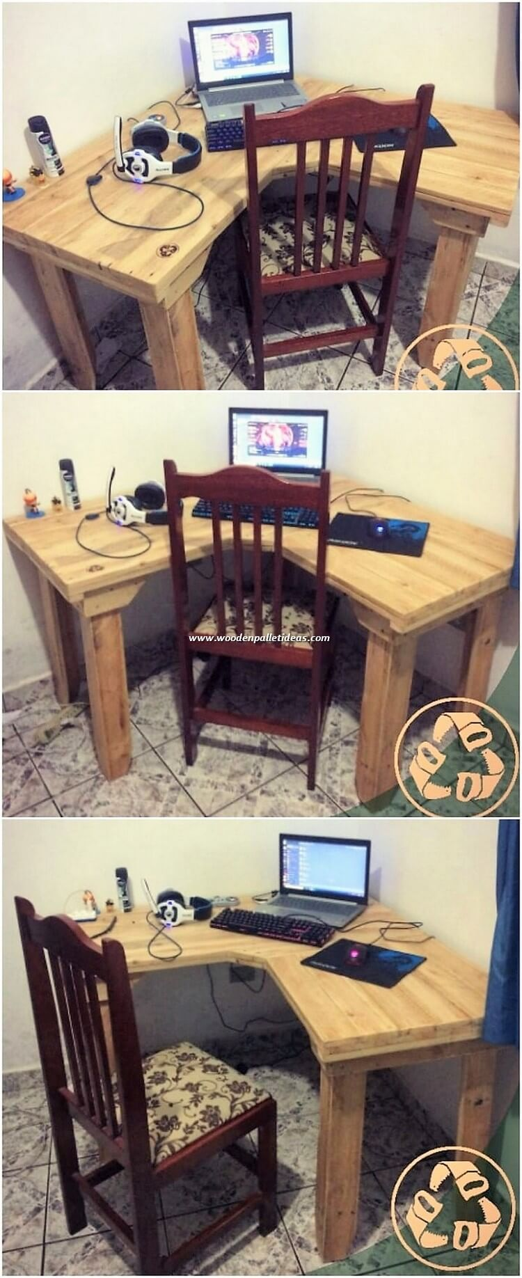 Pallet Office Desk Table and Study Table