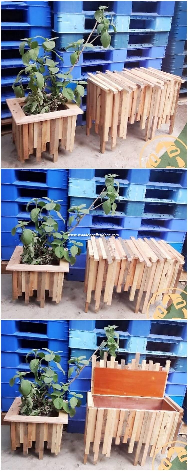 Pallet Planter and Storage Box