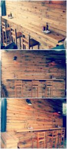Pallet Wall Paneling and Table