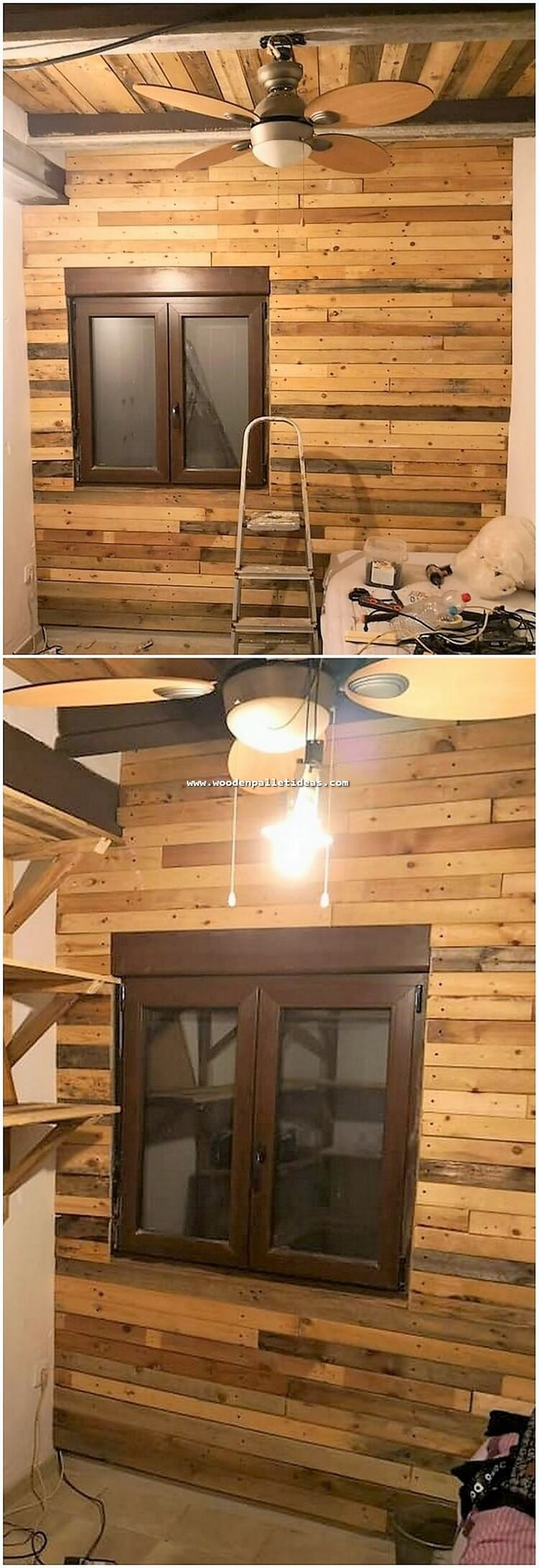 Pallet Wall and Roof