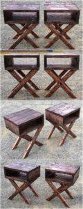 Wood Pallet Side Tables