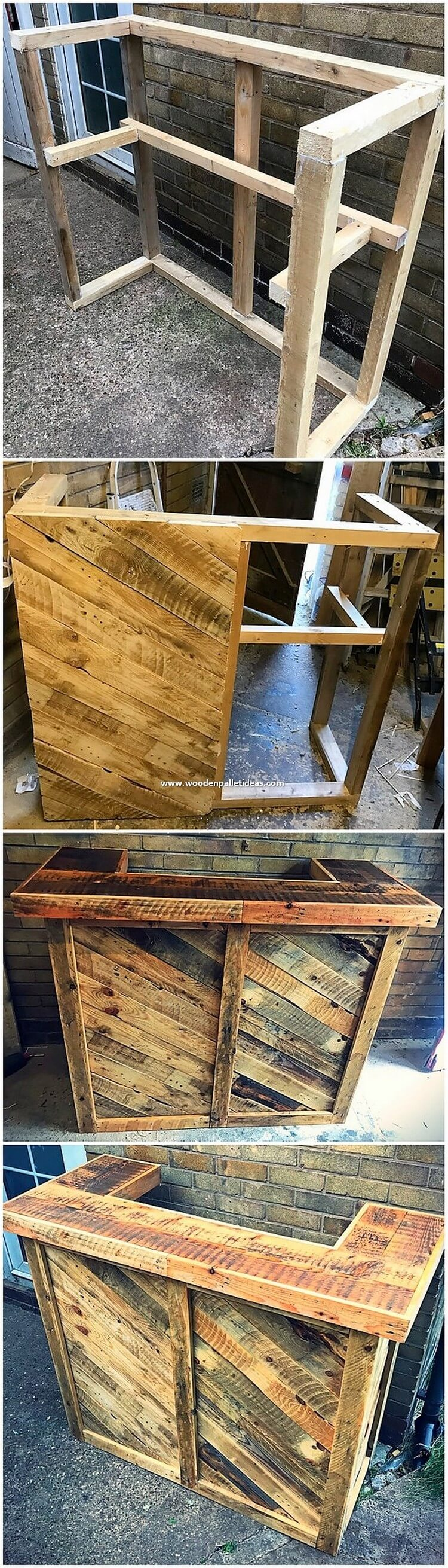 DIY Pallet Counter Table