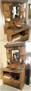 Pallet Bathroom Sink with Mirror