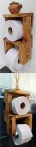 Pallet Bathroom Toilet Paper Roll Holder