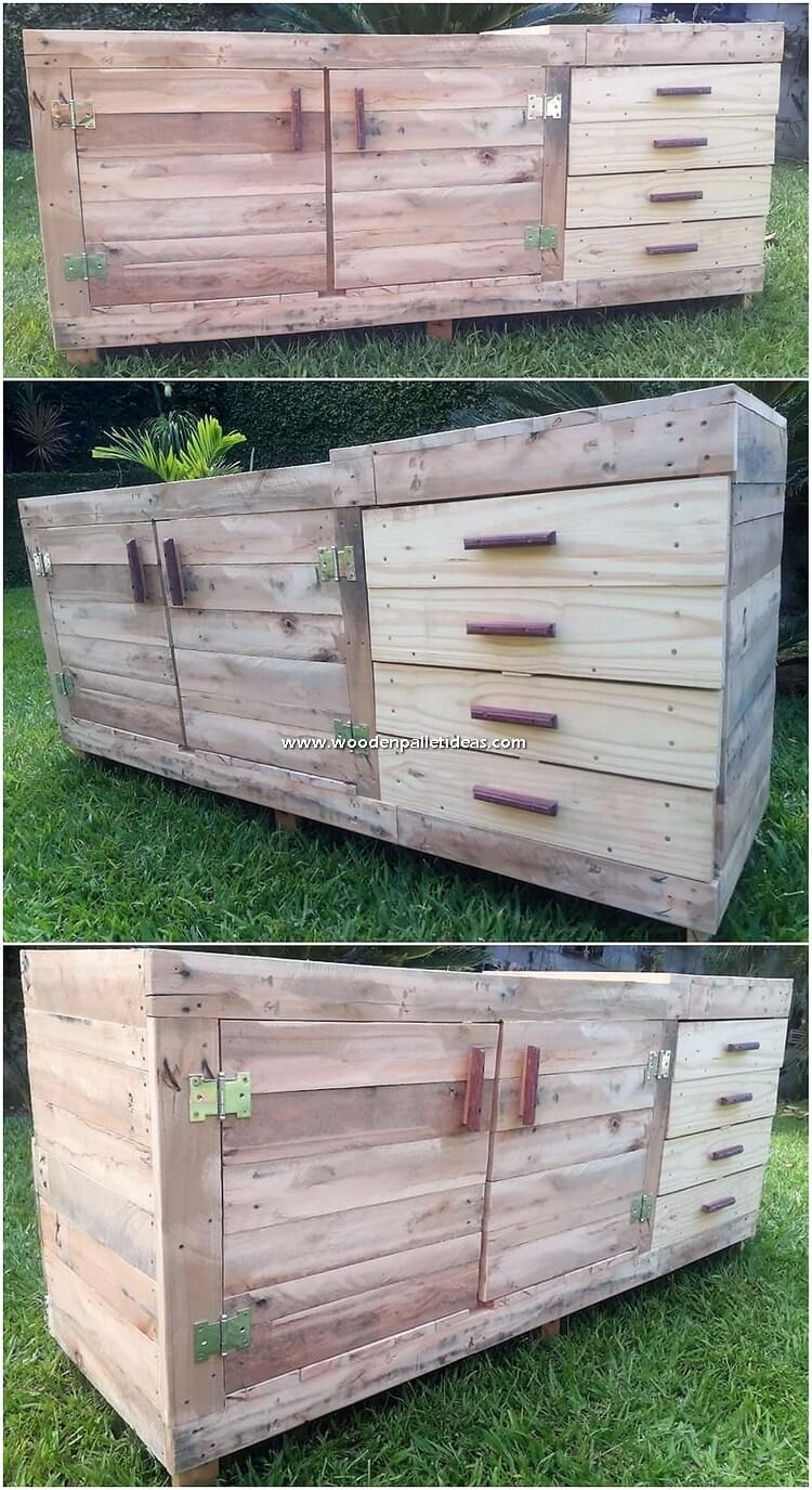 Pallet Cabinet or Chest of Drawers