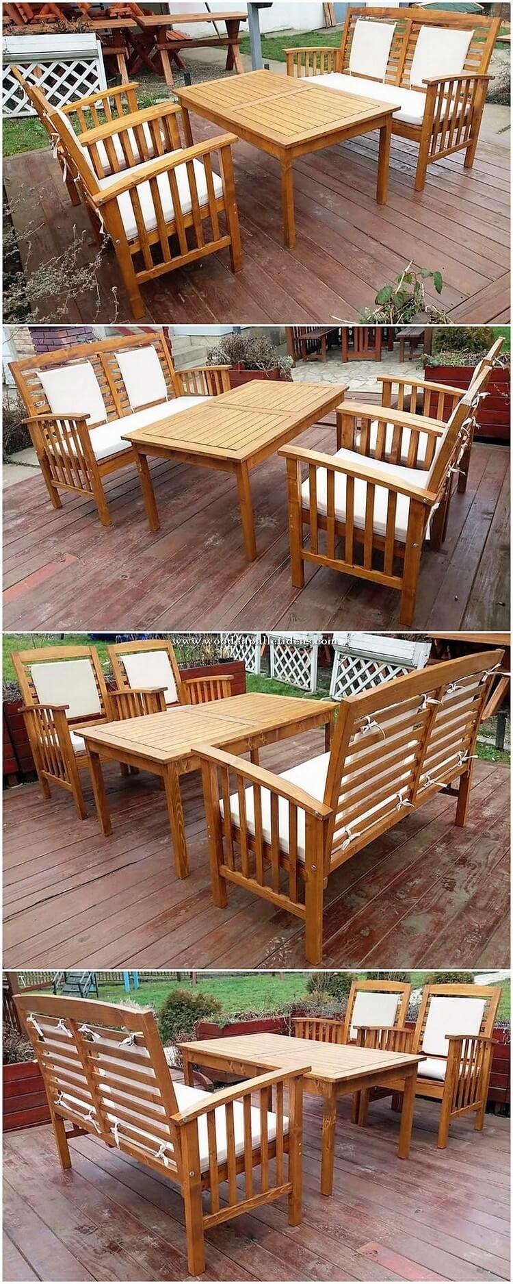 Pallet Garden Furniture Plan
