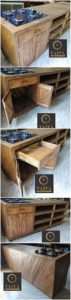 Pallet Kitchen Island Table with Cabinet