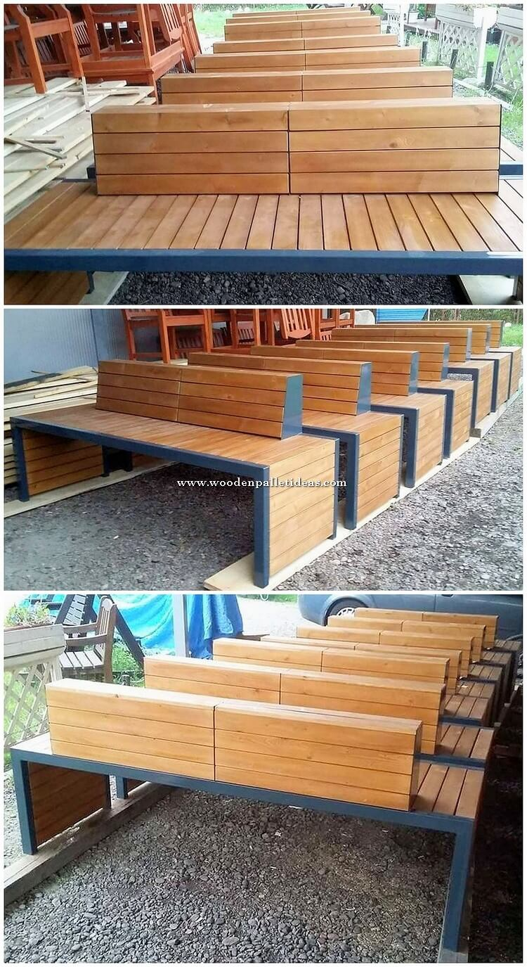 Wood Pallet Benches