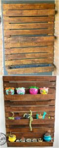 Wood Pallet Wall Planter Pots Stand