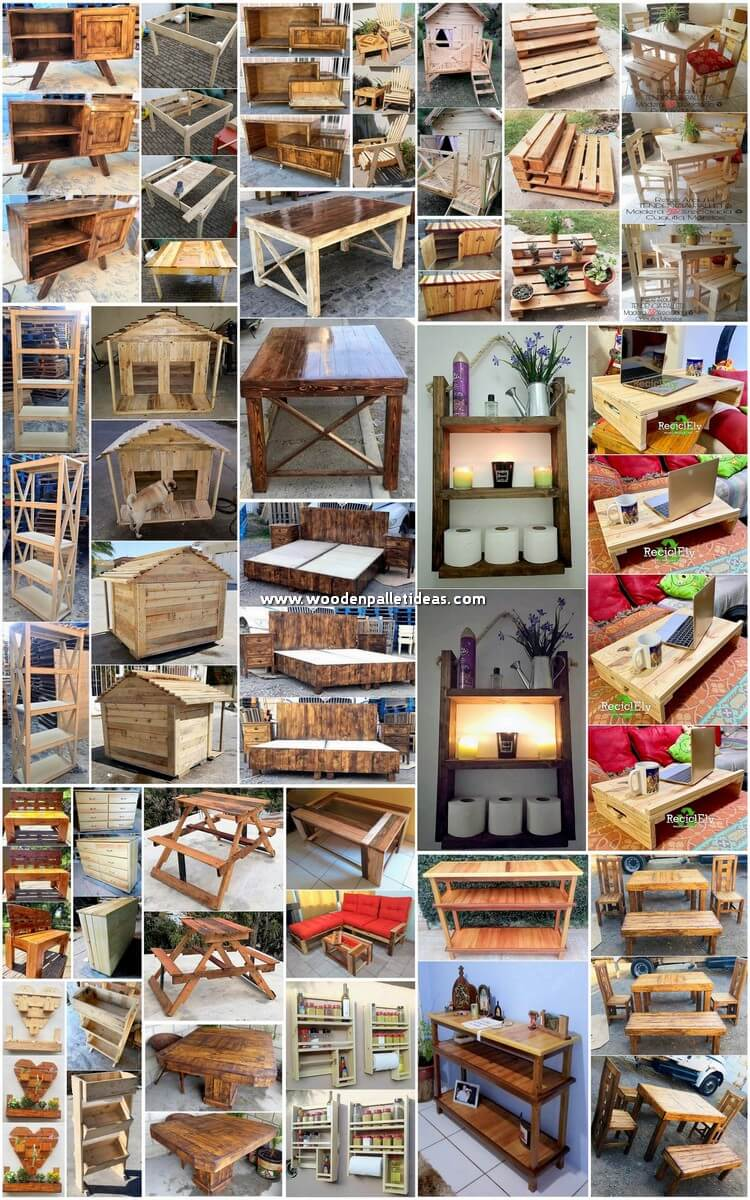 Fantastic Ways for Reusing Old Wooden Pallets