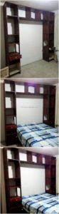 Pallet Bed Headboard Unit
