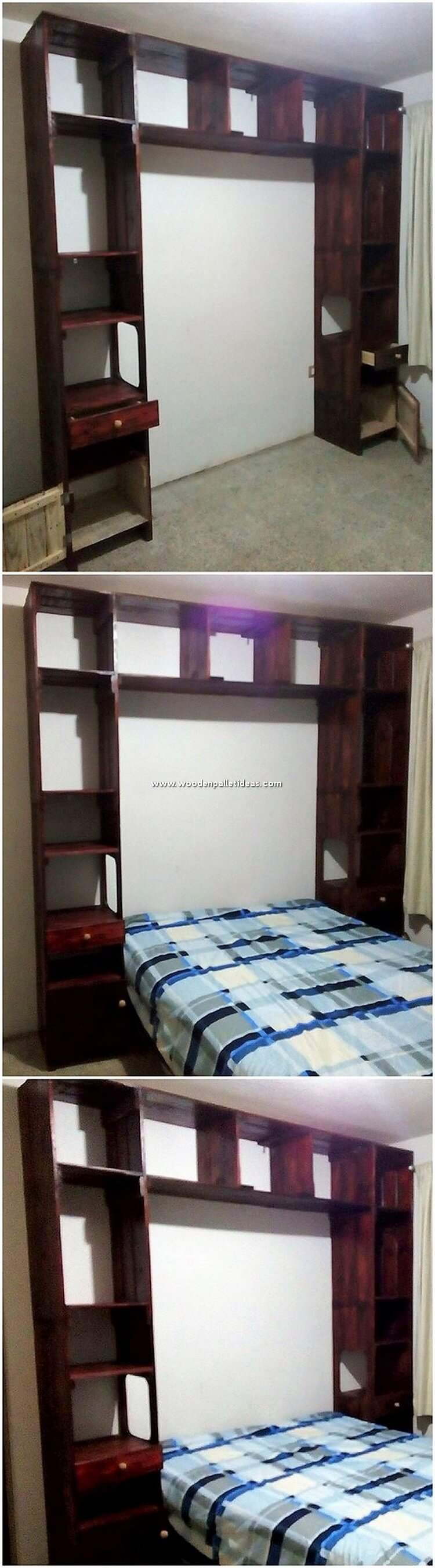 Pallet Bed Headboard Unit