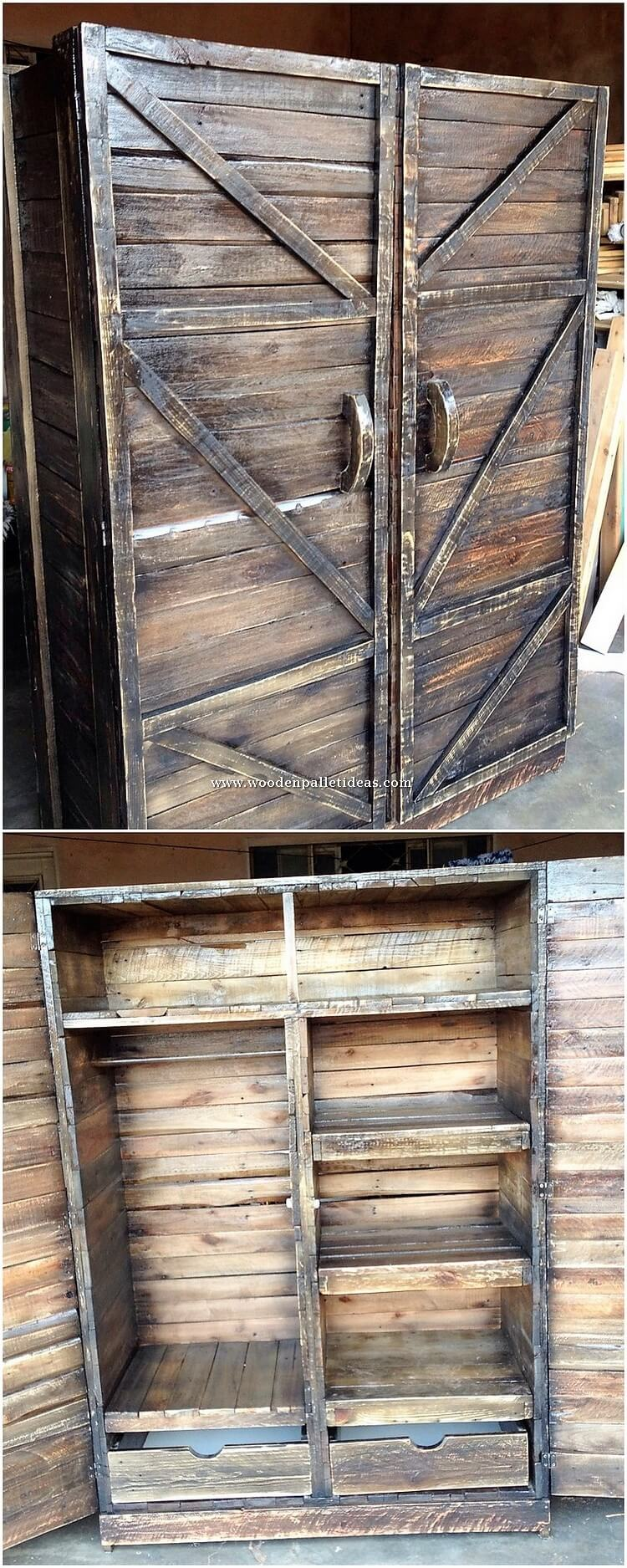 Pallet Cabinet or Closet