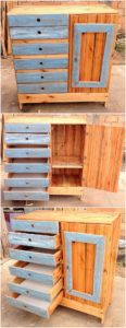 Pallet Cabinet with Drawers