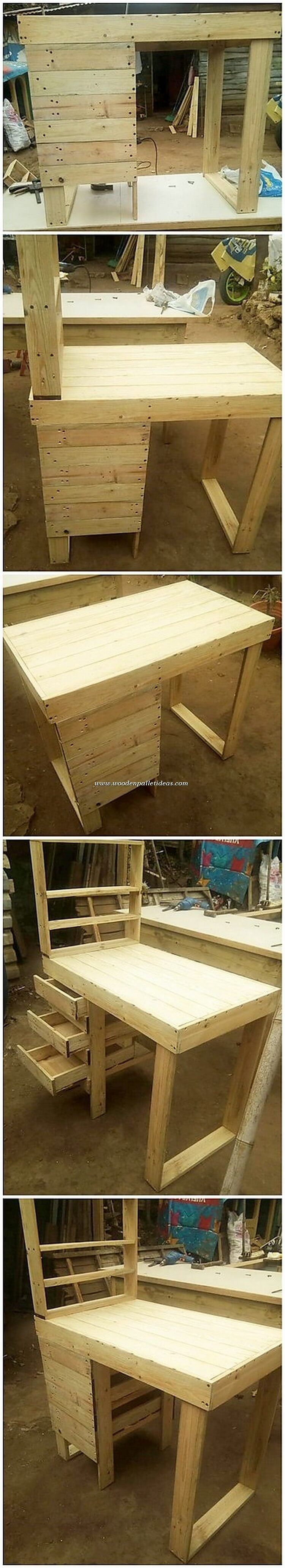 Pallet Desk with Drawer