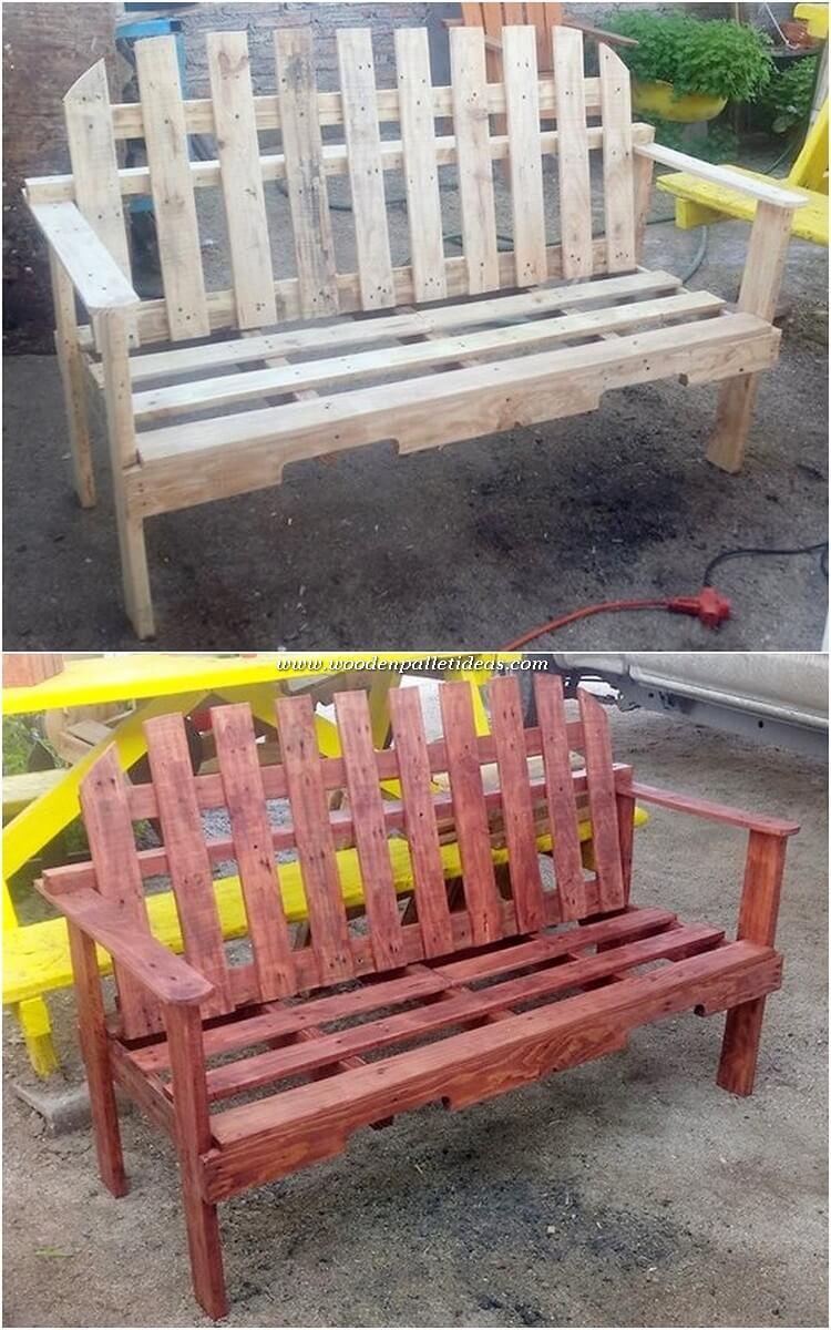 Pallet Garden Bench