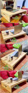 Pallet Laptop Table