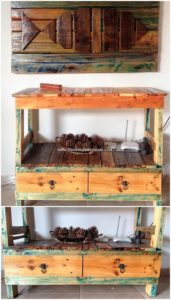 Pallet Wall Decor and Table