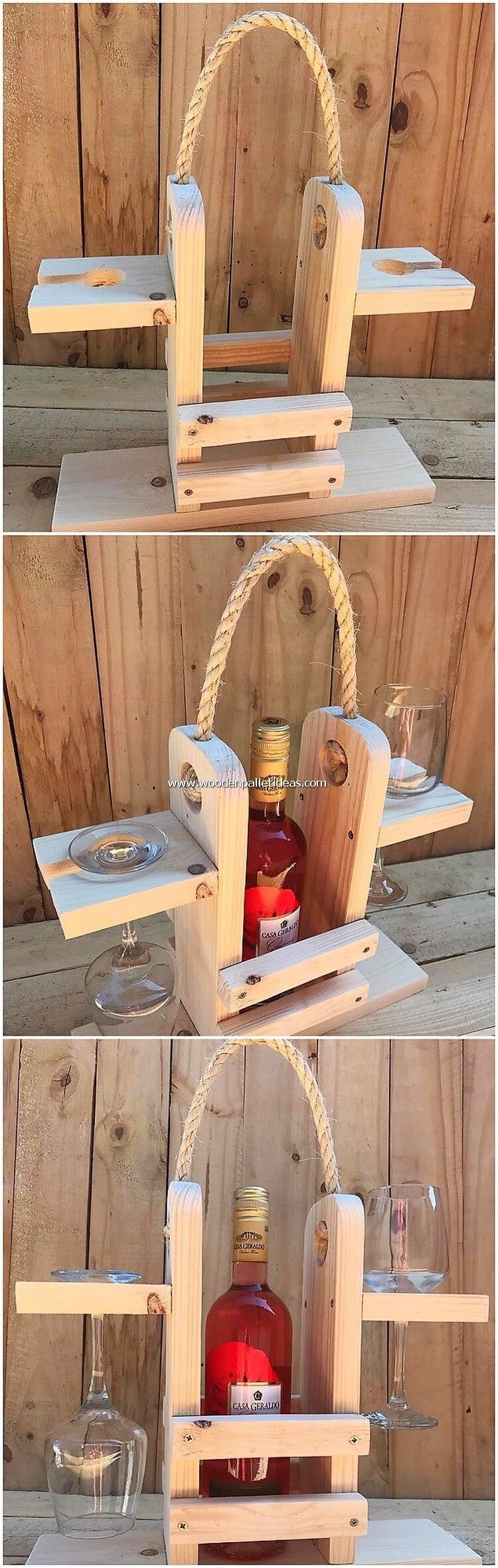 Pallet Wine Bottle Holder