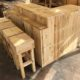 Wood Pallet Counter Table and Stools